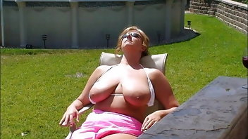 Amateur Beach Wife Big Tits