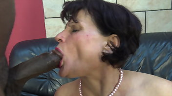 Interracial Granny Dildo Big Ass