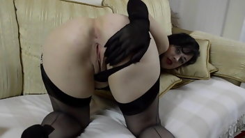 Brunette Stockings MILF Nylon