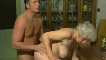 Amateur Granny Wife Kissing