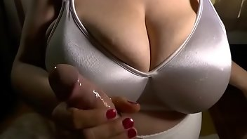 Satin Cumshot Boobs Handjob