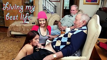 Coed Teen Threesome Grandpa Big Ass
