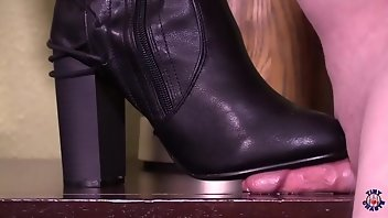 CBT Boots Femdom Small Cock