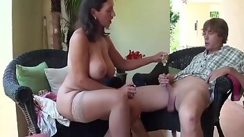 Gloves MILF Blowjob Handjob
