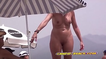 Topless Blonde Big Ass Voyeur