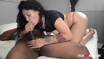 Thong Cum Latina Interracial