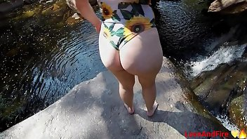 Swimsuit Teen Outdoor Ass