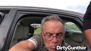 Grandpa Hardcore Outdoor Blowjob