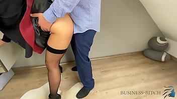 Leather Stockings European Creampie Doggystyle