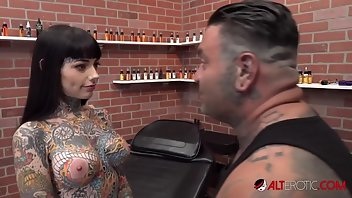 Bizarre Tattoo Shaved Busty Reality