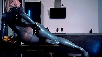 Rubber Blonde Boots Latex